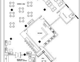#30 za Restaurant floor plan od subhajitmaitycs