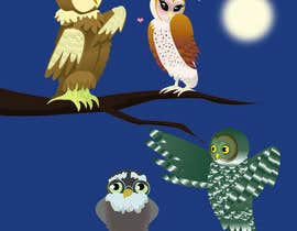 #13 za Funny Looking Owl With Big Eyes In A Dark Environment od Shanadriel11