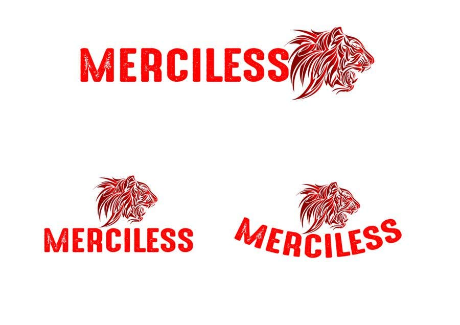 "Intrarea #12 pentru concursul ""new logo design! It must have the word ""Merciless"", and the word merciless has to be red. I have attached the current logo for the company Merciless Sounds."""