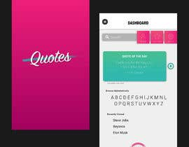 #7 for UI for a Quote App av anarichie