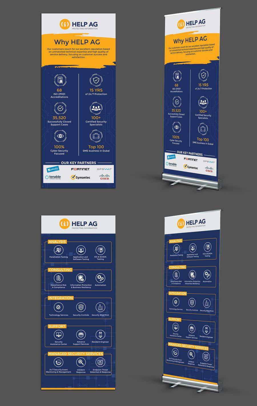 Penyertaan Peraduan #27 untuk Design 2 roll up banners