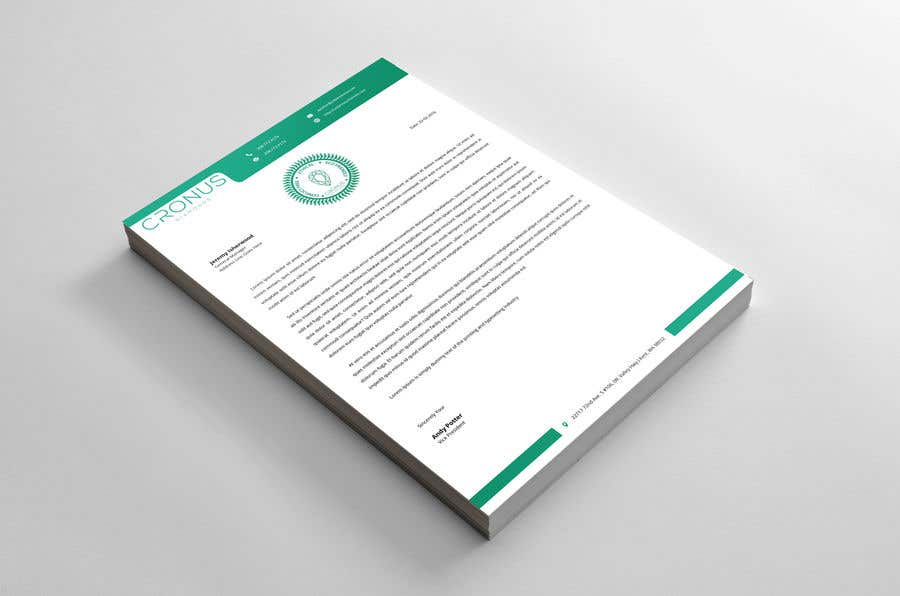 Entry #33 by abdulmonayem85 for Create Letterhead Template