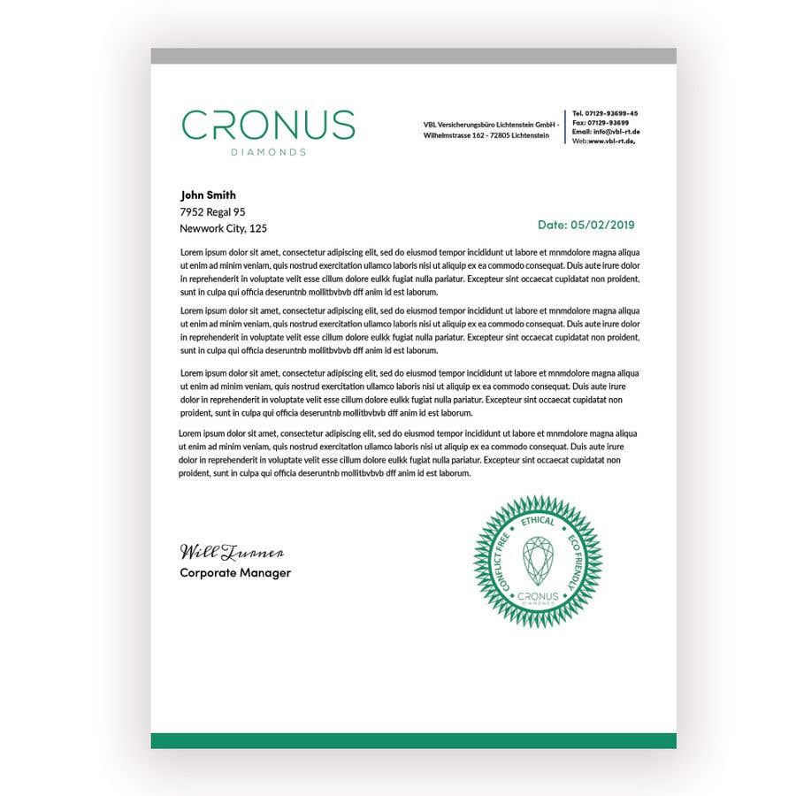 Entry #25 by JOYANTA66 for Create Letterhead Template in
