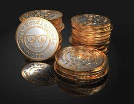 #31 for Design a 3D coin (cryptocurrency) with shiny gold surface and reflections! af Vadymykh