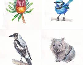 #25 para Art Required of Australian Plants & Animals - 8 Small artworks in total. Hand drawn, digital or watercolor. por sengnirane