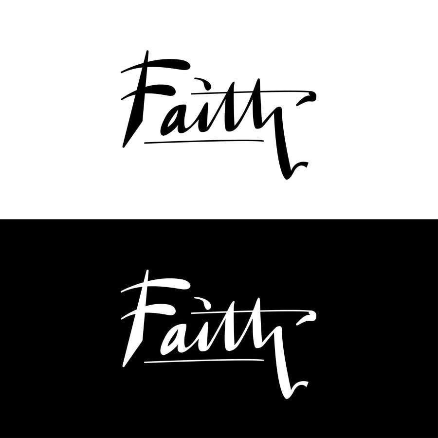 Proposition n°20 du concours Digitize and improve a hand drawn text logo - Faith