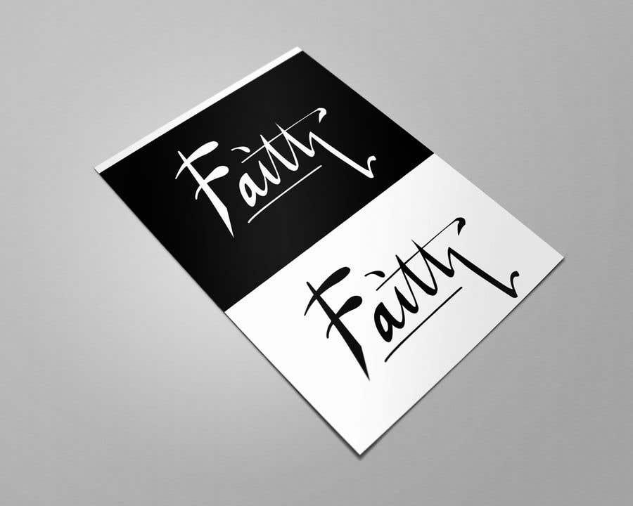 Proposition n°63 du concours Digitize and improve a hand drawn text logo - Faith