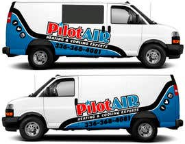#12 pёr Pilot Air Heating & Cooling Partial Van Wrap design nga TheFaisal