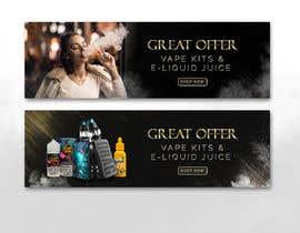 #14 pёr Website Banner for Vape Products nga akidmurad