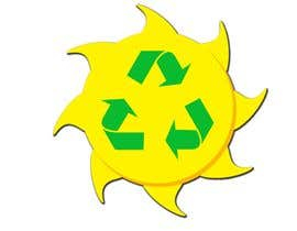 #31 pёr Design a logo for a sustainability business. No business name in the logo. It should have 3 green arrows around a yellow conceptualised flaring sun. The sun flare should be in the centre and the flares emerge from behind the green arrows. nga kalenmcinnes
