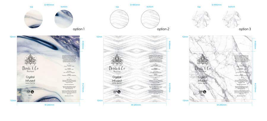 Konkurrenceindlæg #9 for Cylinder design for crystal infused water bottle