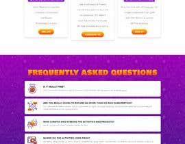 Nro 7 kilpailuun Single-page marketing page needed käyttäjältä gonalegen
