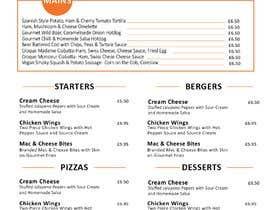 Nro 90 kilpailuun Design/Create funky food menu for bar/restaurant in MS Word käyttäjältä awais7322