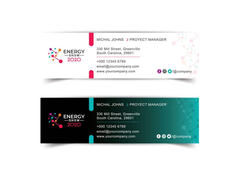 Contest Entry #469 for Business card and e-mail signature template.