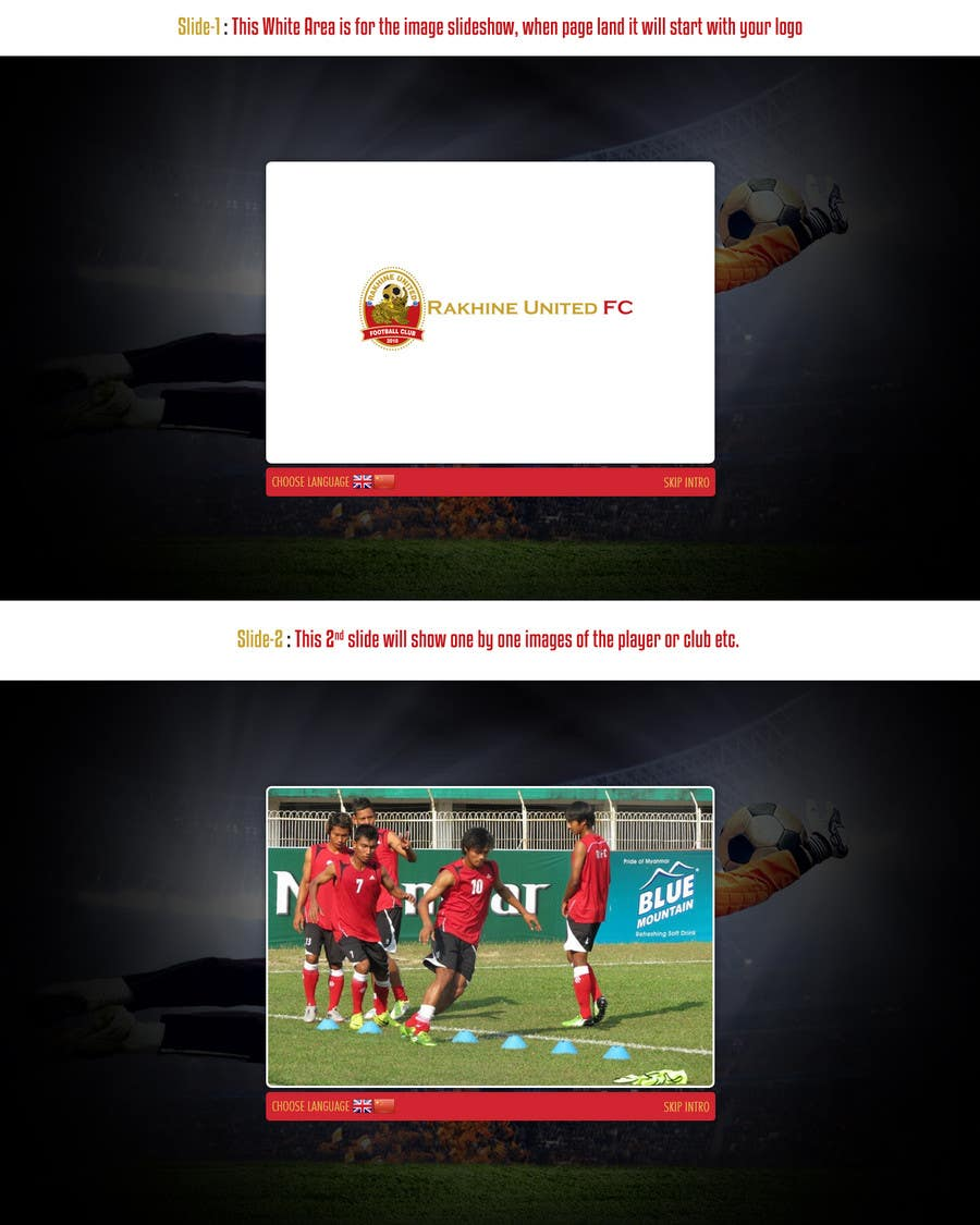 Proposition n°                                        5                                      du concours                                         Graphic Design for Football Club Website Intro Page