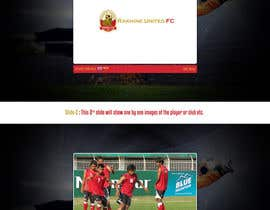 nº 5 pour Graphic Design for Football Club Website Intro Page par rainbowfeats