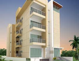#46 для Improve 3D Building Exterior - Paint, Windows, Balcony, Entrance, Garden от mufassir1234