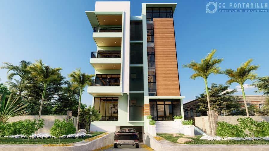 Bài tham dự cuộc thi #67 cho Improve 3D Building Exterior - Paint, Windows, Balcony, Entrance, Garden