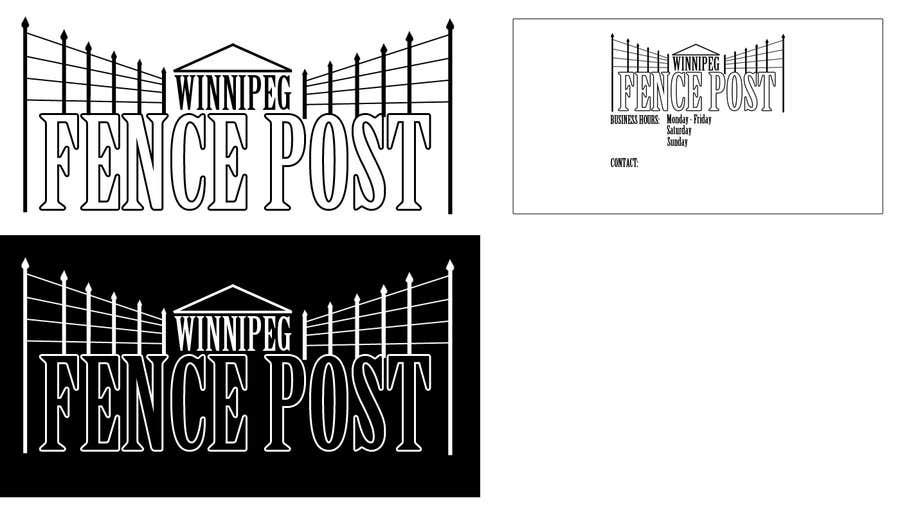 Proposition n°                                        3                                      du concours                                         Logo Design for Winnipeg Fence Post
