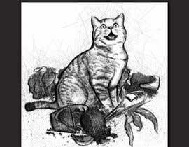 #11 for Illustrate a Cat and Plants on Bottom af vungurean