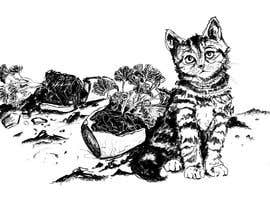 #15 for Illustrate a Cat and Plants on Bottom af vidadesign