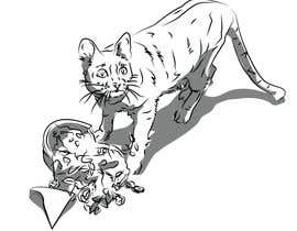 #10 for Illustrate a Cat and Plants on Bottom af kesabk