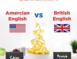 TheDesigner5 tarafından Inforgraphics Design for American English Vs British English Feb 2019 için no 8