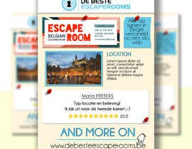 #27 for Design A6 flyer for an escape room review website by dadecamponogara