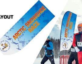 #29 for Arctic Snowshoe Race: design for beach flag/banner af JunrayFreelancer