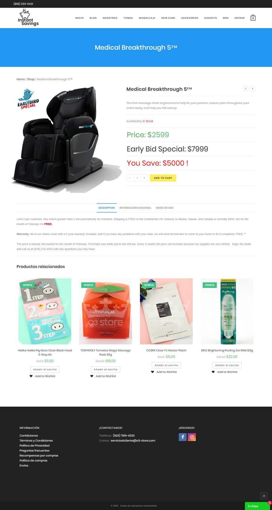 Contest Entry #5 for Design A Website - Easy money