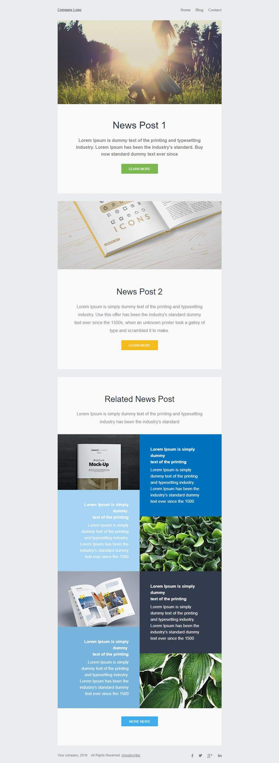 Contest Entry #27 for Design a Newsletter HTML