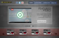 Website design! (Video download site) için Graphic Design3 No.lu Yarışma Girdisi