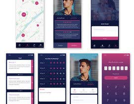 #4 for UI/UX for a dating app by JuliaKampf