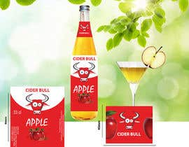 Nro 14 kilpailuun Create a label for an apple cider beverage with different flavors käyttäjältä Sreesujitdeb
