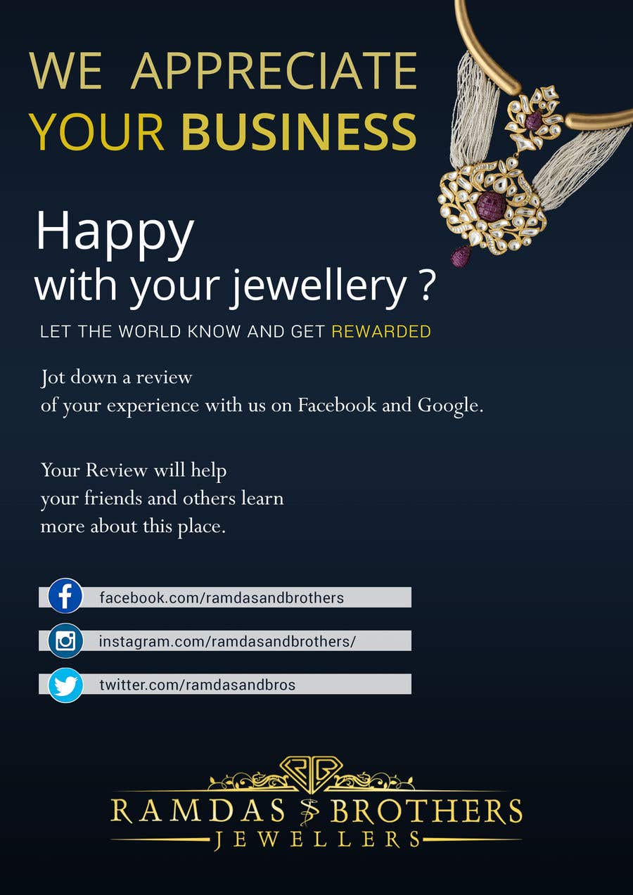 Contest Entry #20 for A4 and A3 size Advertisement for a Jewelry Store -- 2