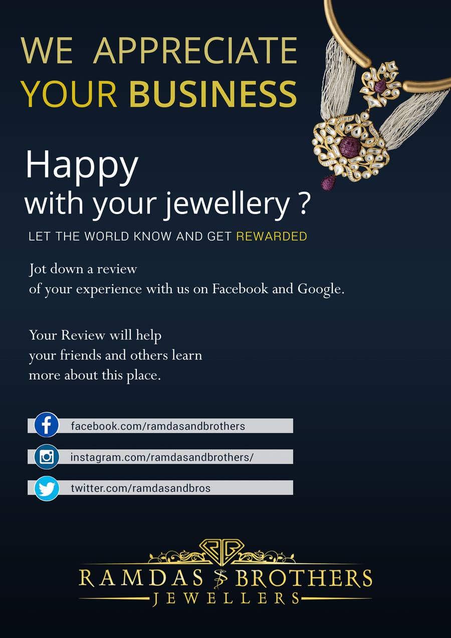 Kilpailutyö #20 kilpailussa A4 and A3 size Advertisement for a Jewelry Store -- 2