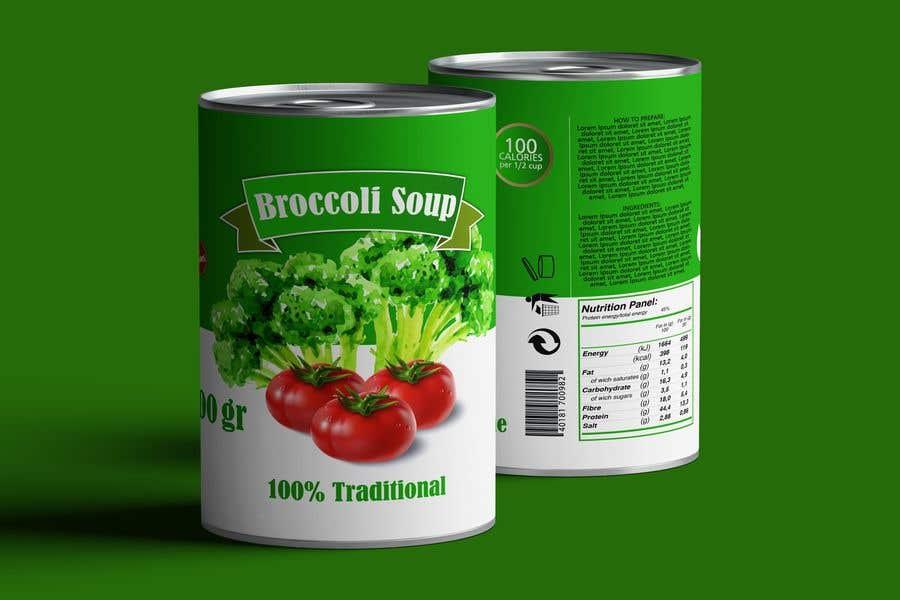 "Intrarea #30 pentru concursul ""I need a logo for a 2D artist. It must be a soup can with a ""Broccoli Soup"" title."""