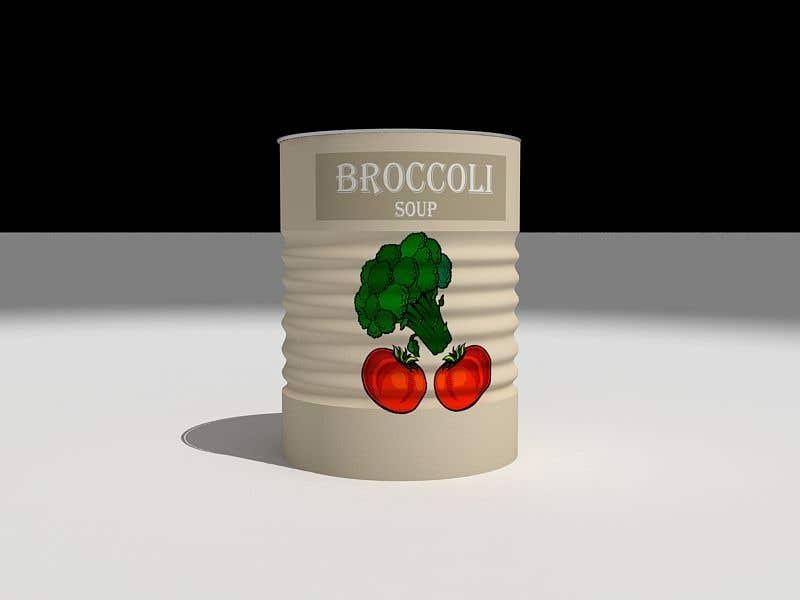 "Intrarea #39 pentru concursul ""I need a logo for a 2D artist. It must be a soup can with a ""Broccoli Soup"" title."""