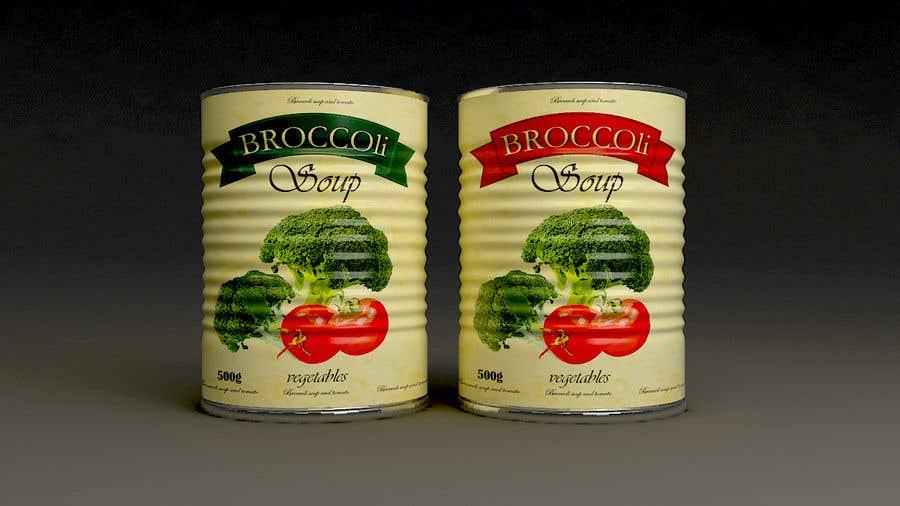 "Intrarea #35 pentru concursul ""I need a logo for a 2D artist. It must be a soup can with a ""Broccoli Soup"" title."""