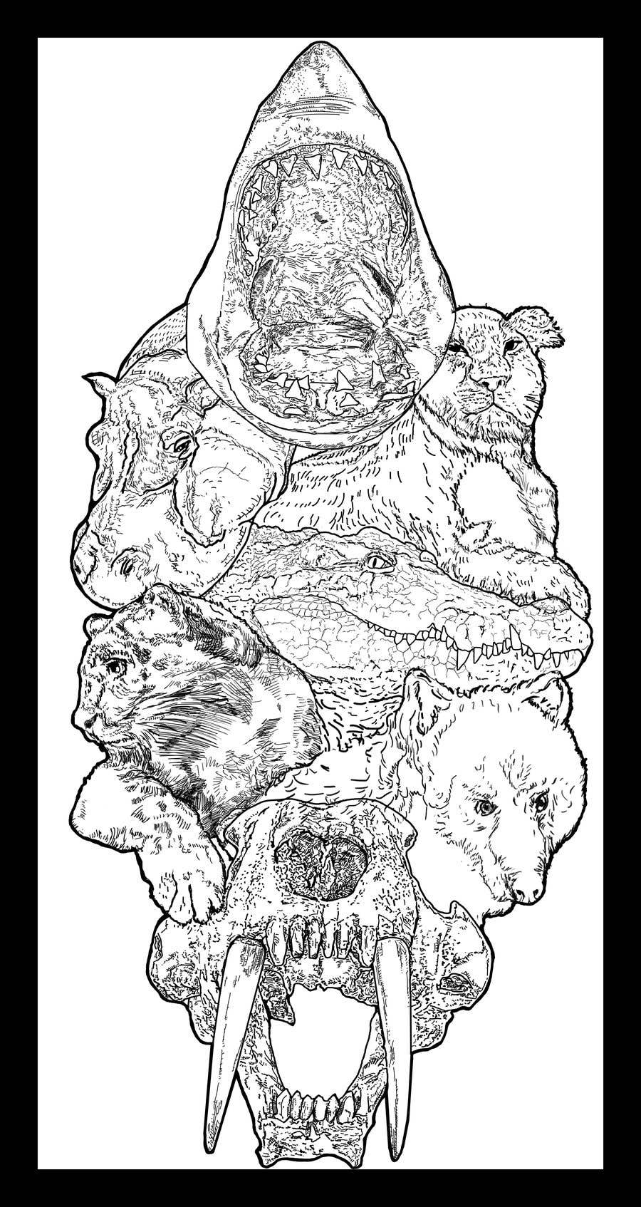 Contest Entry #30 for I need an artist to draw tattoo sleeves of animals.