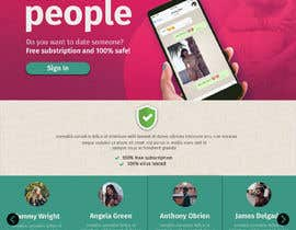 nº 24 pour Design of a landing page for DATING par Wiwastefa