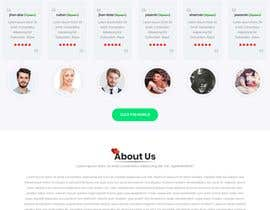 nº 28 pour Design of a landing page for DATING par arafathhshemanto