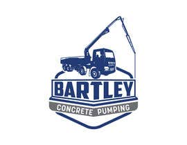 "Nro 103 kilpailuun Logo for ""Bartley Concrete Pumping"". Our concrete foundation business uses the Bartley Corp logo (see bartleycorp.com for more) Other pic are boom pump concrete examples. Use your creativity to perhaps combine a both pics & make it easy to read our name käyttäjältä Designexpert98"