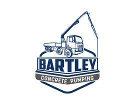 "#111 pentru Logo for ""Bartley Concrete Pumping"". Our concrete foundation business uses the Bartley Corp logo (see bartleycorp.com for more) Other pic are boom pump concrete examples. Use your creativity to perhaps combine a both pics & make it easy to read our name de către Designexpert98"