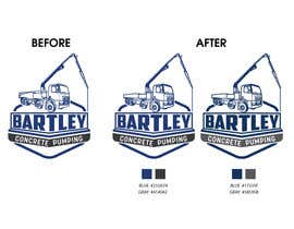 "#114 pentru Logo for ""Bartley Concrete Pumping"". Our concrete foundation business uses the Bartley Corp logo (see bartleycorp.com for more) Other pic are boom pump concrete examples. Use your creativity to perhaps combine a both pics & make it easy to read our name de către Designexpert98"