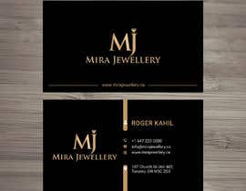 #87 untuk Design a Business Card for a Jewellery Company oleh looterapro01