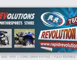 nº 30 pour New Banner for trade show 10ft by 3ft par meenapatwal