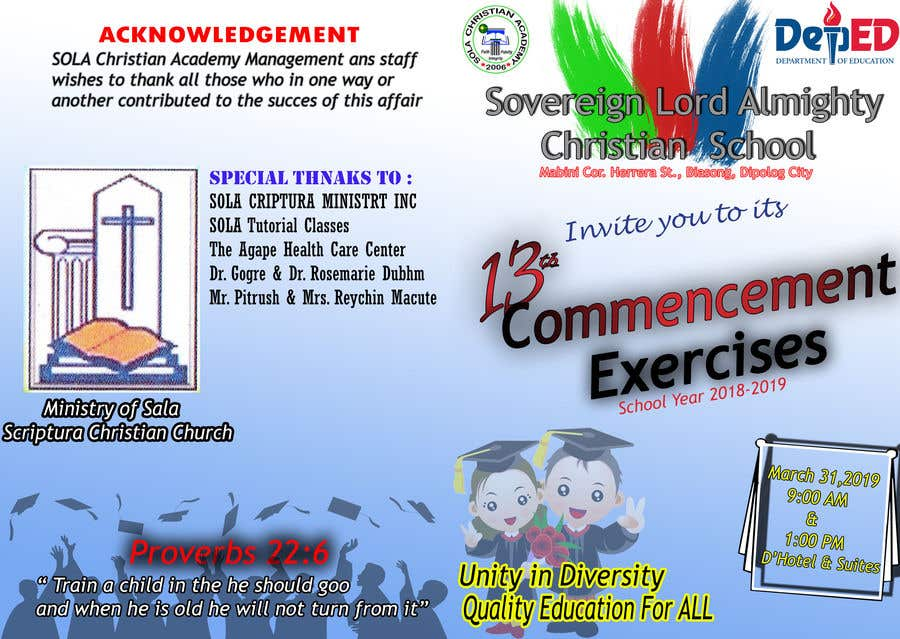 Contest Entry #14 for commencement exercises
