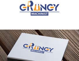 nº 23 pour Grungy Machinist Logo par fourtunedesign
