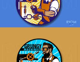 #56 for Grungy Machinist Logo by ryomboxstudio